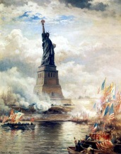 Courtesy of Wikipedia EdwardMoran-UnveilingTheStatueofLiberty1886